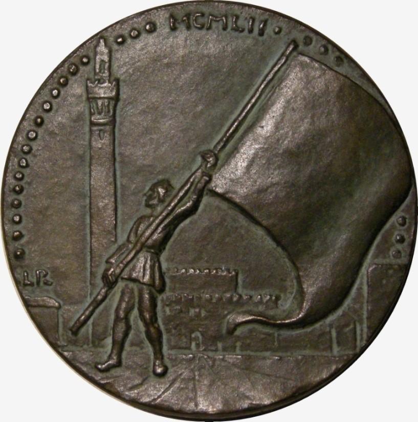 Sienne par Rousselon (revers). Bronze coulé 78 mm.