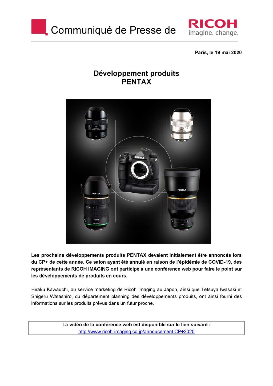 PENTAX RICOH IMAGING - Communiqué de presse du CP+ 2020 20052711023123142216813911