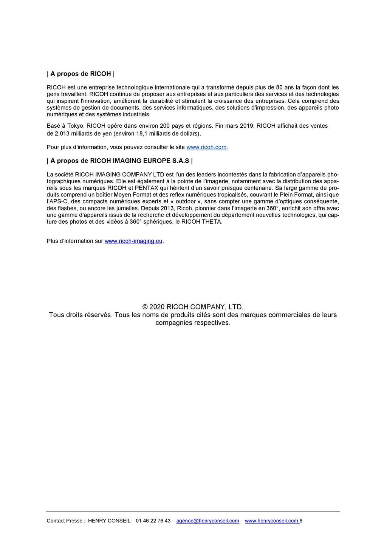 PENTAX RICOH IMAGING - Communiqué de presse DFA* 85mm F1.4 ED SDM AW 20052803503223142216816148
