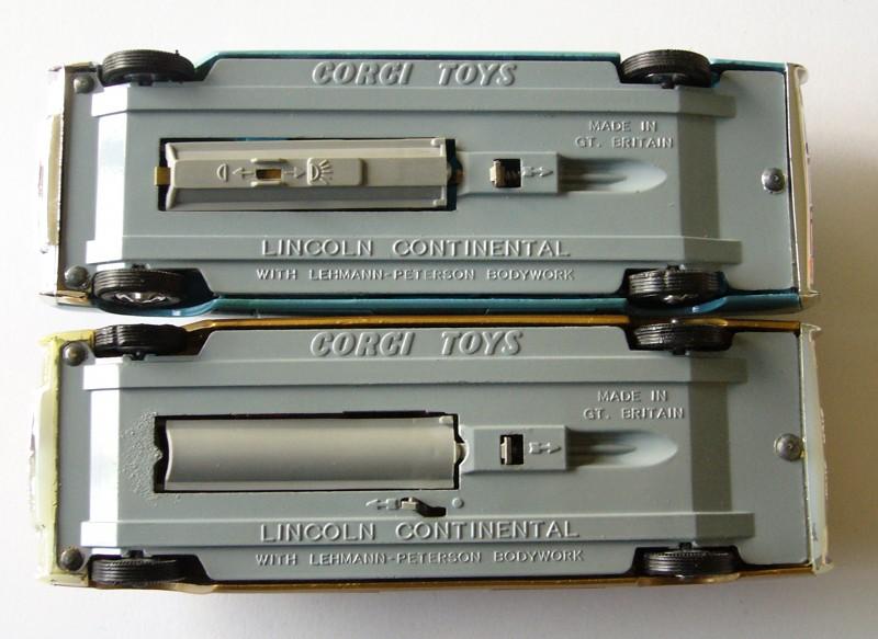 Lincoln Continental Corgi comparaison système éclairage web