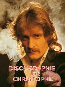 Discographie de Christophe 1970-2019