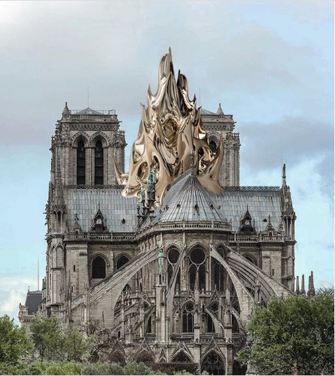 Screenshot_2020-07-10 Mathieu Lehanneur sur Instagram Some say that we should rebuild the spire as it was originally Others[...]