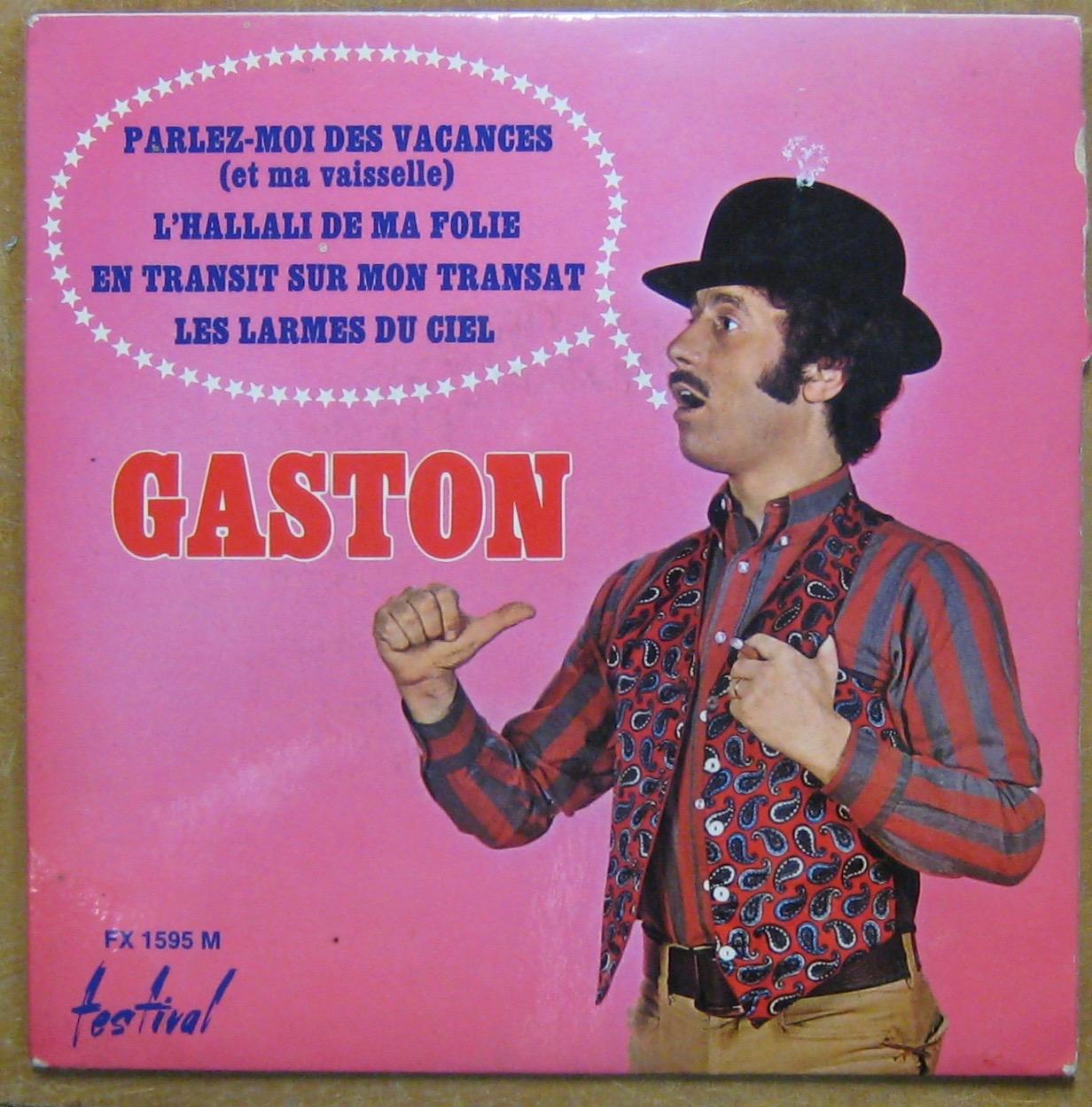 GASTON - Parlez-moi des vacances - 45T (EP 4 titres)