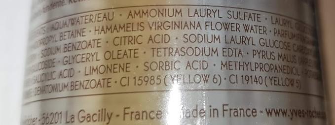 ingrédients yves rocher