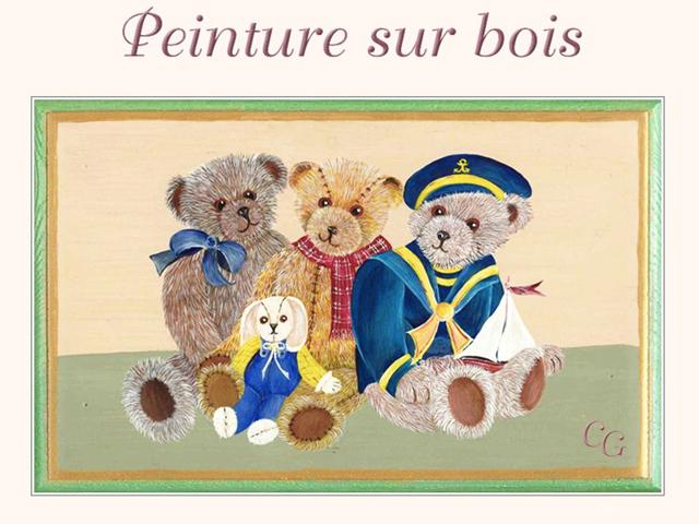 Christiane : Peinture sur bois REGhKb-000-101