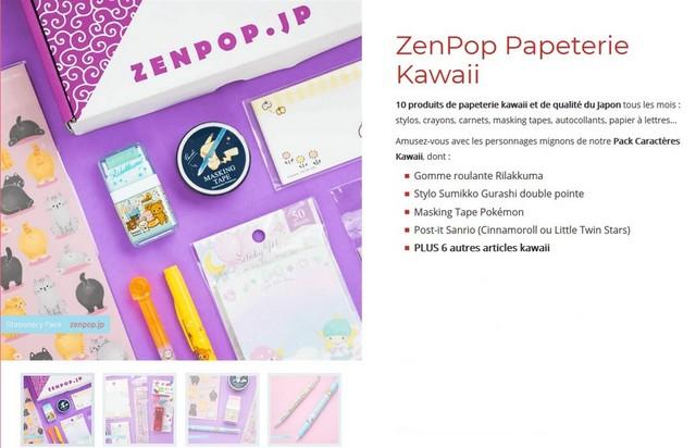 zenpop caractères kawaii