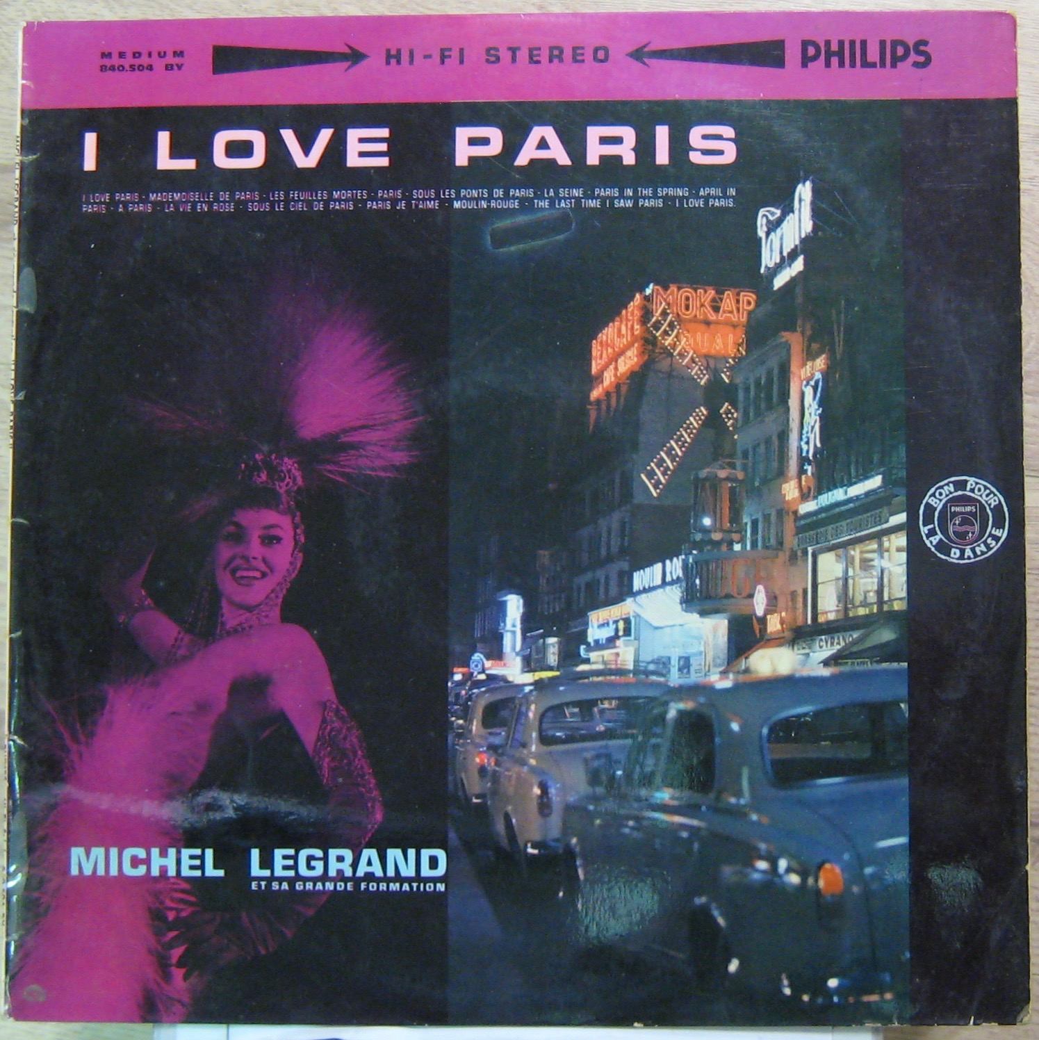 LEGRAND MICHEL - I love Paris - 33T