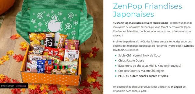 zenpop pack friandises