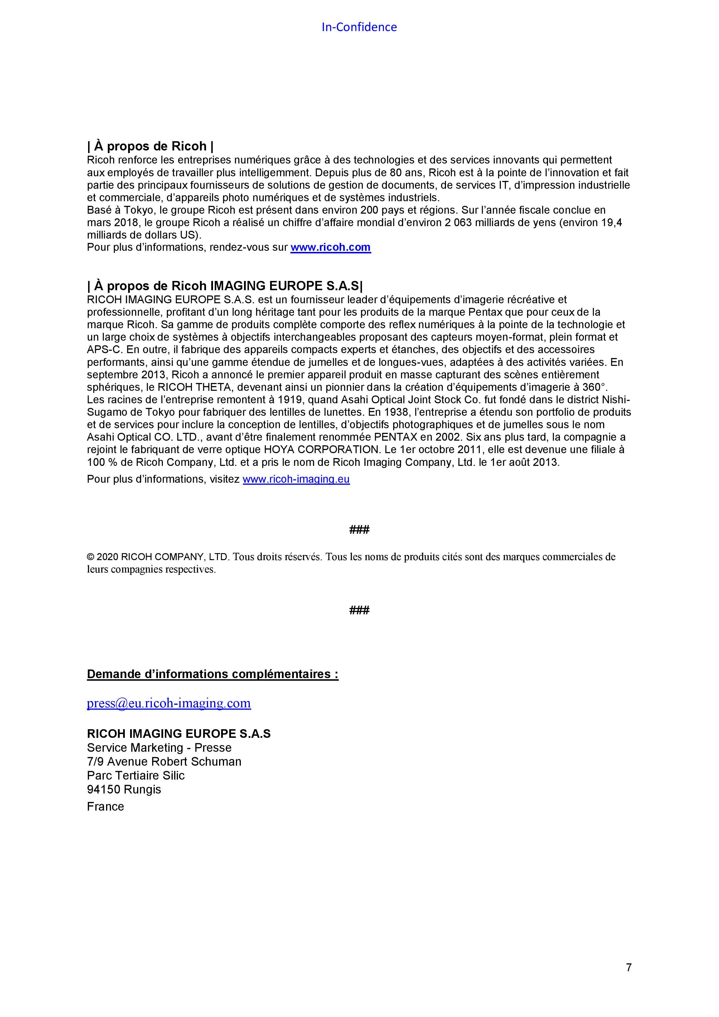 RICOH PENTAX Informations nouveau boîtier APS_C 20110404394723142217109620