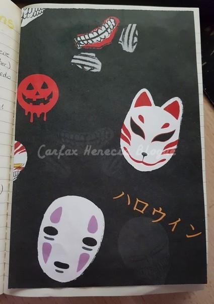 page de garde bujo halloween