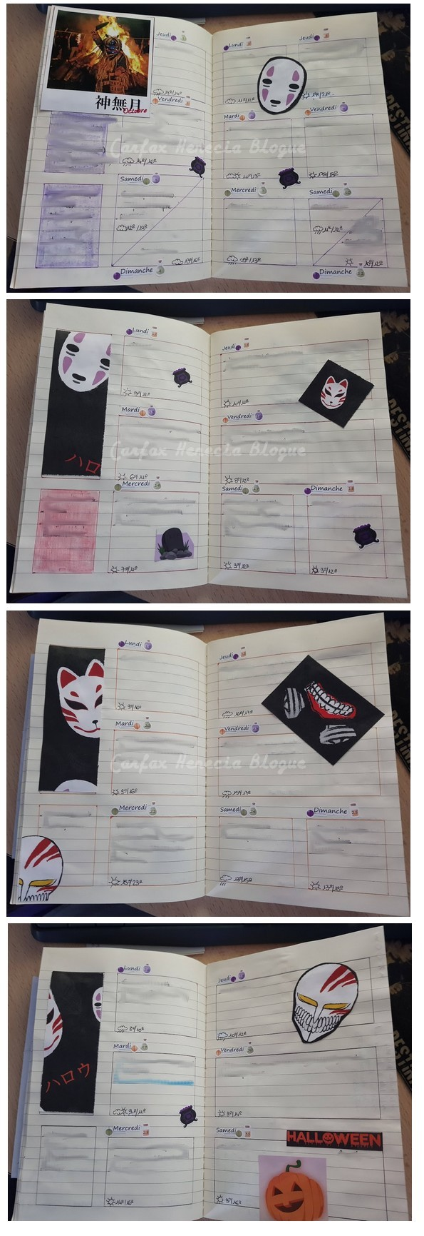 pages bujo halloween