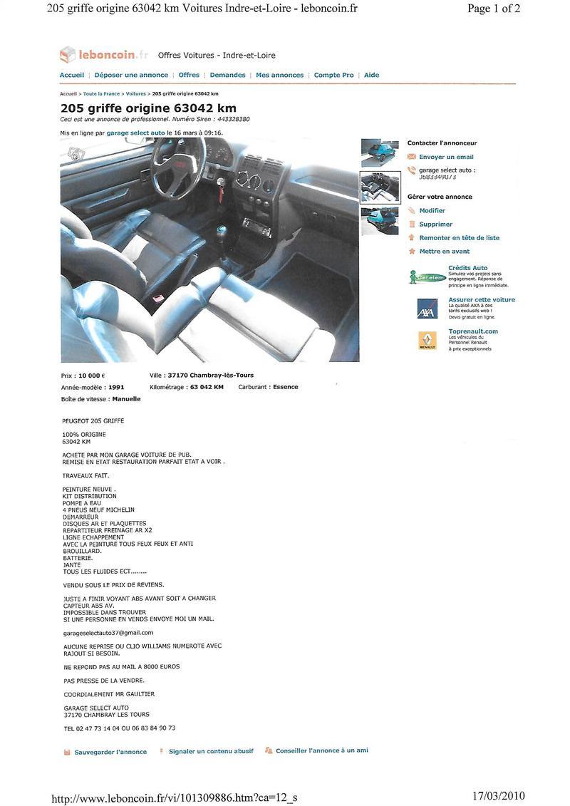 [71] 205 GTi Griffe - 122cv - AM91 - Vert Fluorite - N°985/1652 20111906512425726717134495