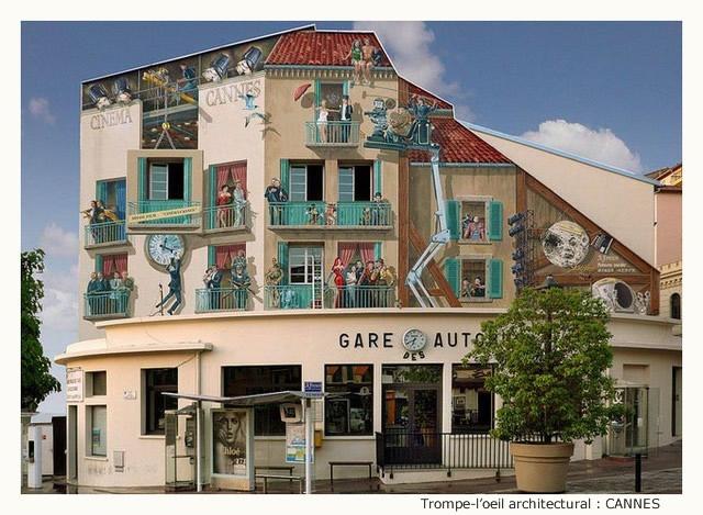 Trompe-l'oeil architectural EsbKKb-TO-101-A
