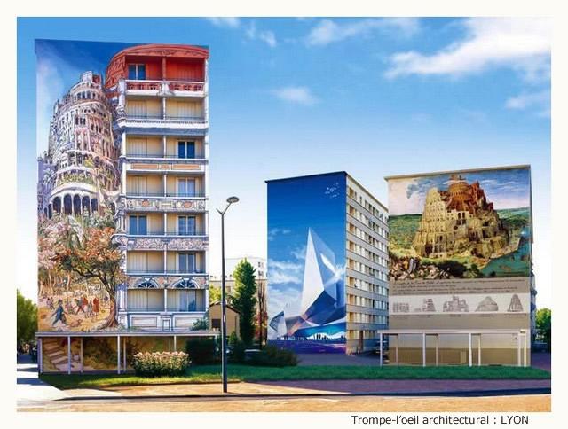 Trompe-l'oeil architectural GsbKKb-TO-102-G