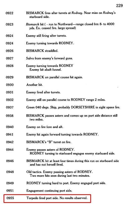 DKM Bismarck 1/350 Trumpeter + PE Eduard - Page 5 TvOdLb-Rodney-torpedoing-Bismarck-1