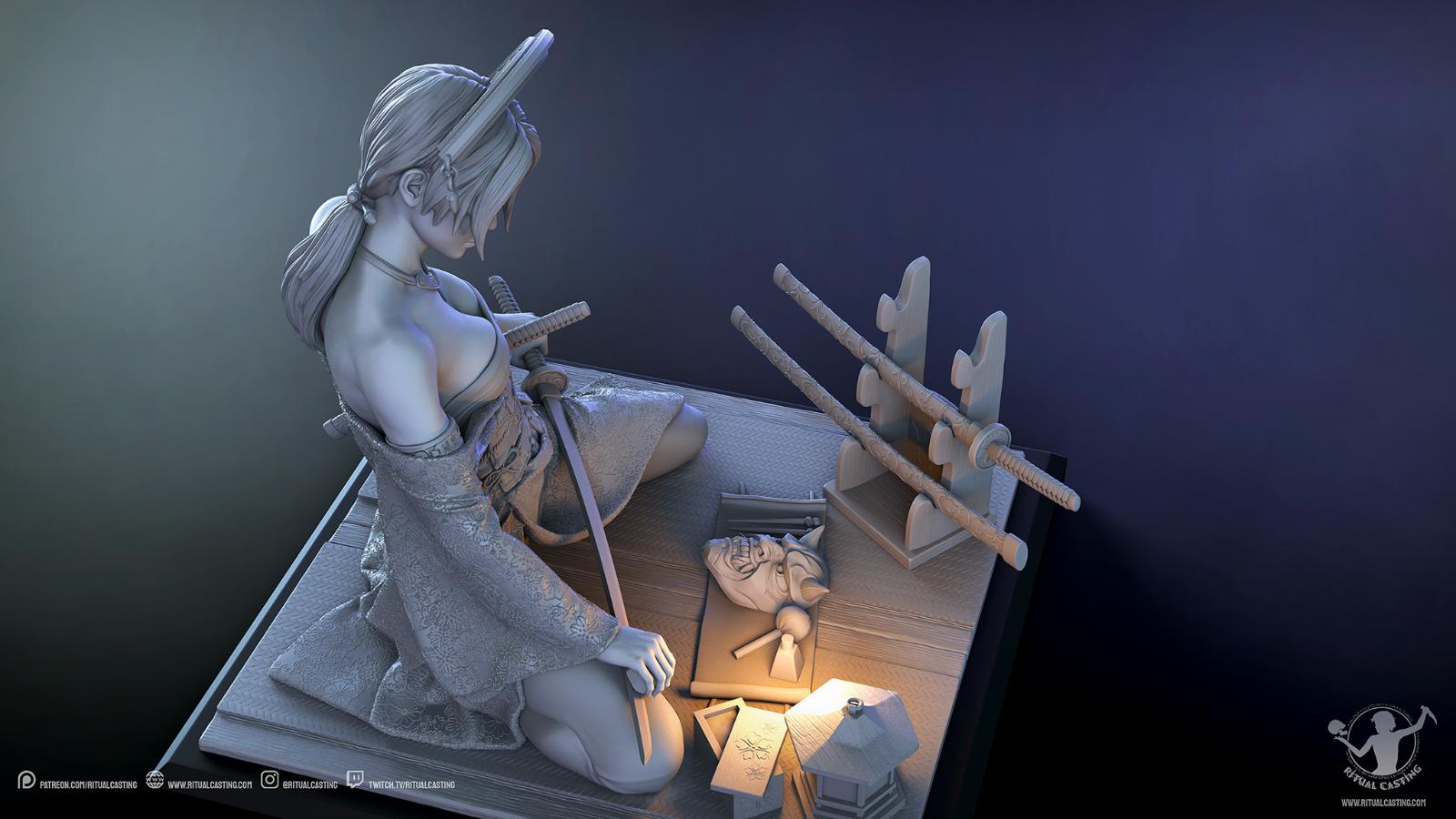 Katsumi 1/10ème Ritual Casting par Logan 21021504425314703417263483