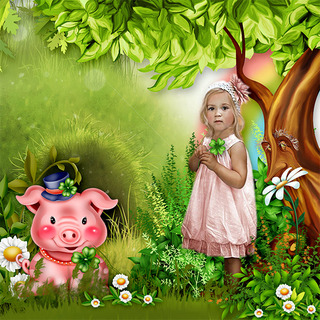 LITTLE PIG BRINGS GOOD LUCK - lundi 22 février / monday february 22th 21022208475619599817275184