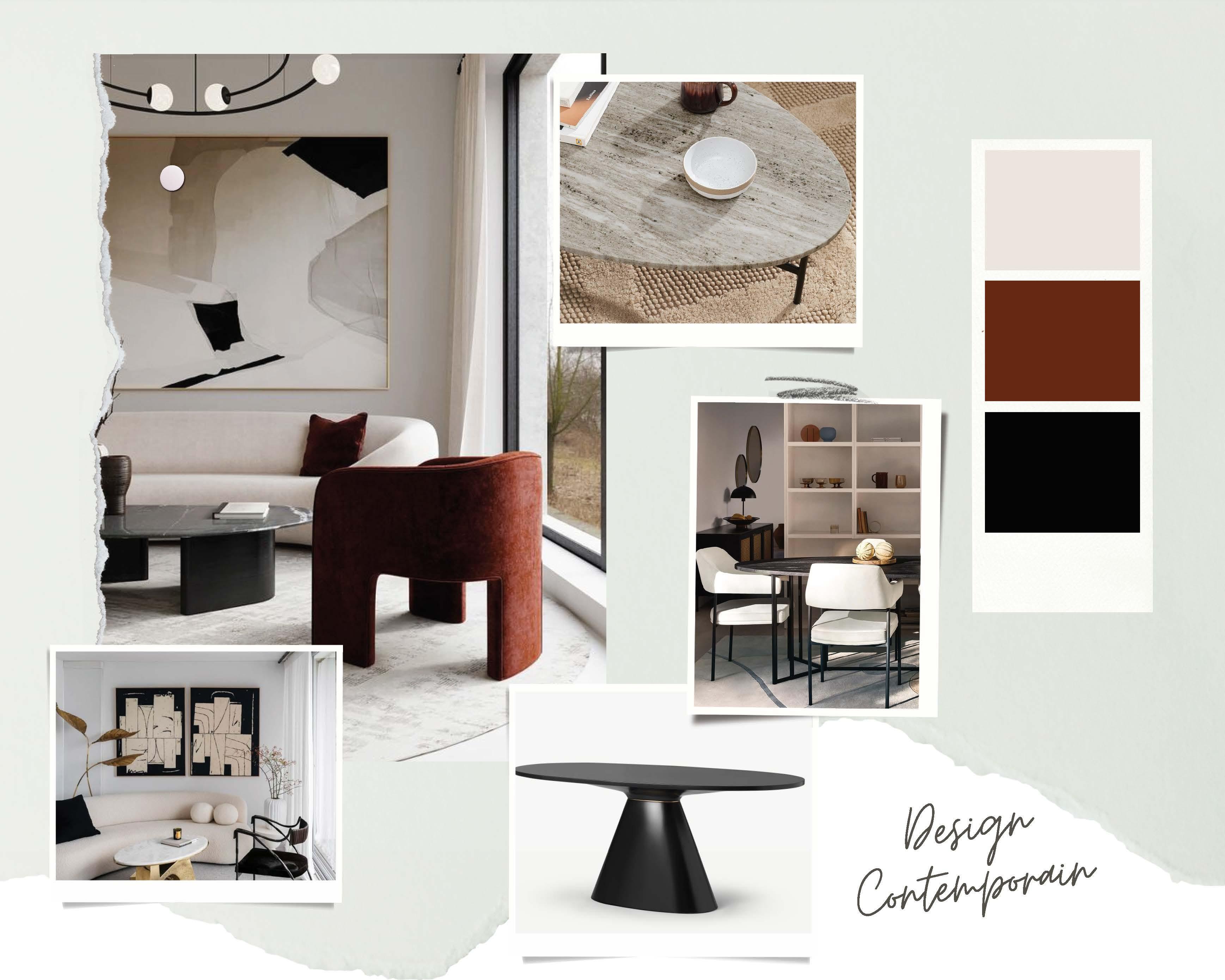 Décoration d'intérieur design contemporain