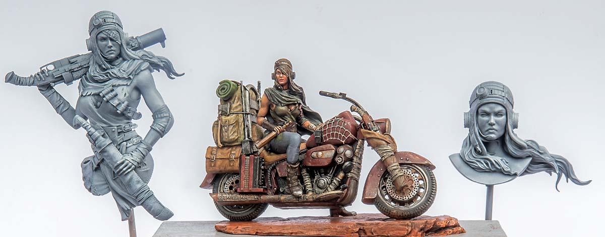 Road girl : après la figurine à moto, les bustes 21052404424914703417431582