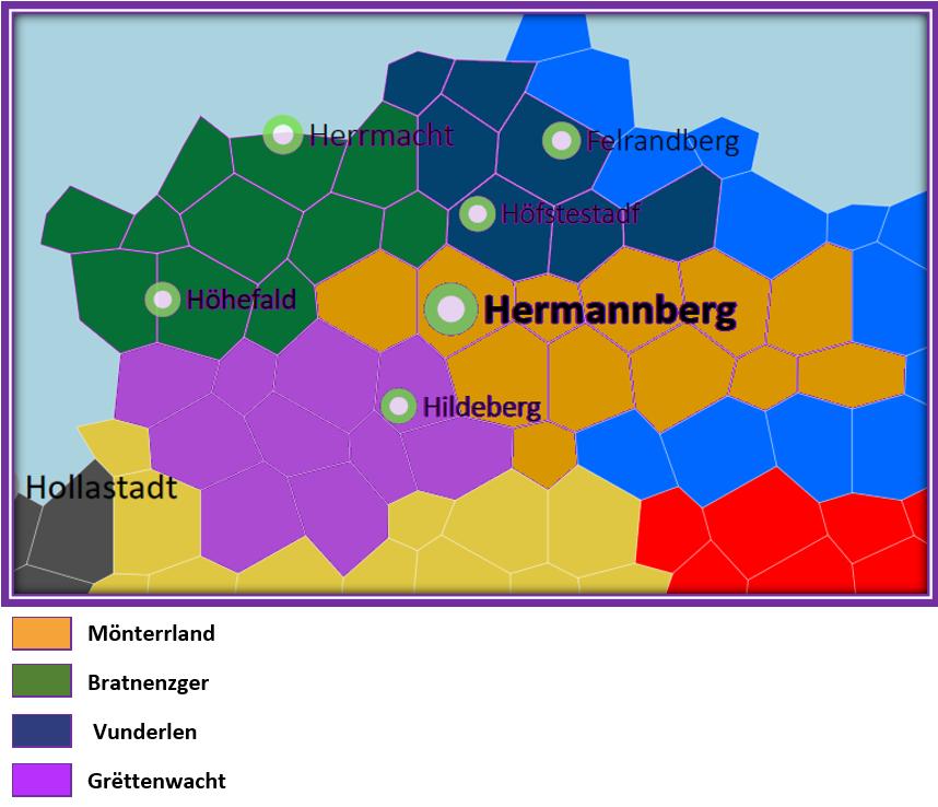 Les quatre régions Jaguellites