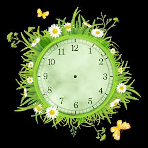 2 : Horloge à aiguilles simple QovmMb-paquerette-simple