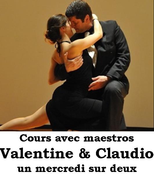 Cours de tango argentin avec Claudio Blanc & Valentine Iten